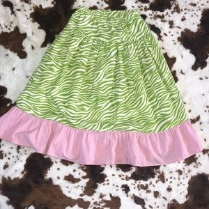 Pink and green girls skirt | size 8 💕